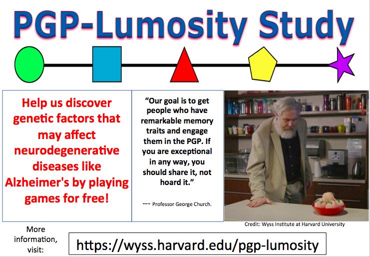 Harvard PGP-Lumosity Memory Challenge