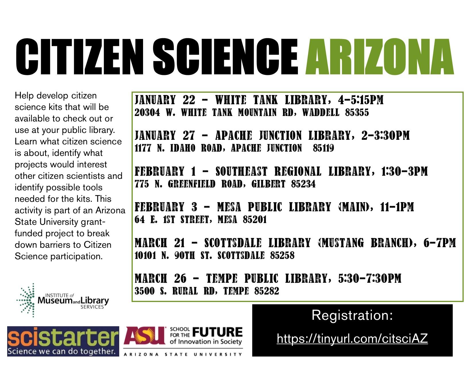 Citizen Science White Tank Library, AZ